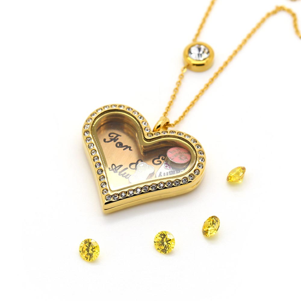 floating charm necklace BOFEE GIFT