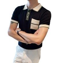 Polo-Shirt Short-Sleeve Slim-Fit Breathable Men Casual Fashion High-Quality Streetwear