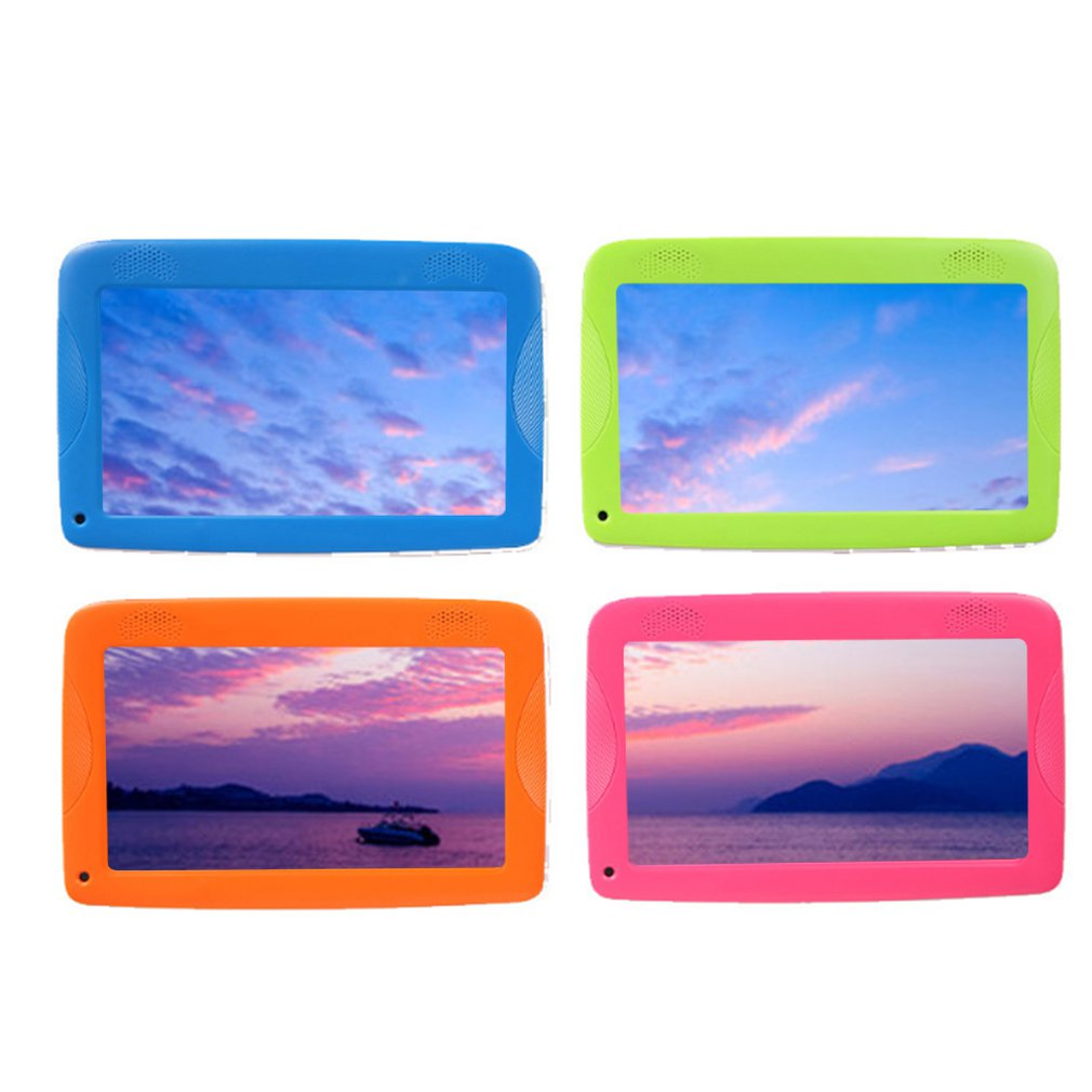 Q18 Quad-Core Wifi Internet 7-Inch Kinderen Leren Machine Multifunctionele Cartoon Tablet Voor En Na 30W Camera 512M + 8G