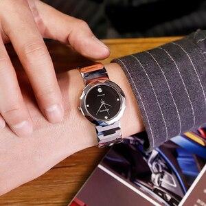 Image 2 - John Boss Simple Design Swiss Move Sapphir Cyrstal Watch Woman Diamond Cutting Buzel Design Water Resist Tungsten Steel Watch
