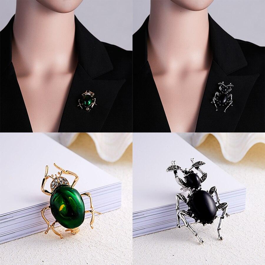 Стразы броши в форме жуков Кристалл насекомое Брошь Жук булавка мода шарф клип ювелирные изделия брошь букет Винтаж жуков эмаль значок