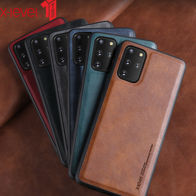 X-Level Leather Case For Samsung S20 Plus Original Soft Silicone Edge Back Phone Cover For Samsung Galaxy S20 Ultra Case S20 5G