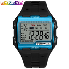 SYNOKE Gold Digital Watch Big Screen Mens 39 S Watches Cool Electronic Waterproof Alarm Shock Resistant Strong Sport