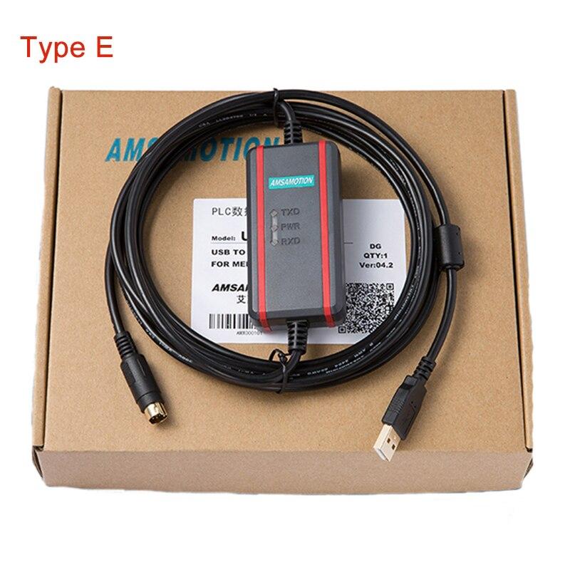 Winhao USB-SC09-FX PLC Programming Cable Compatible Mitsubishi FX Download Line