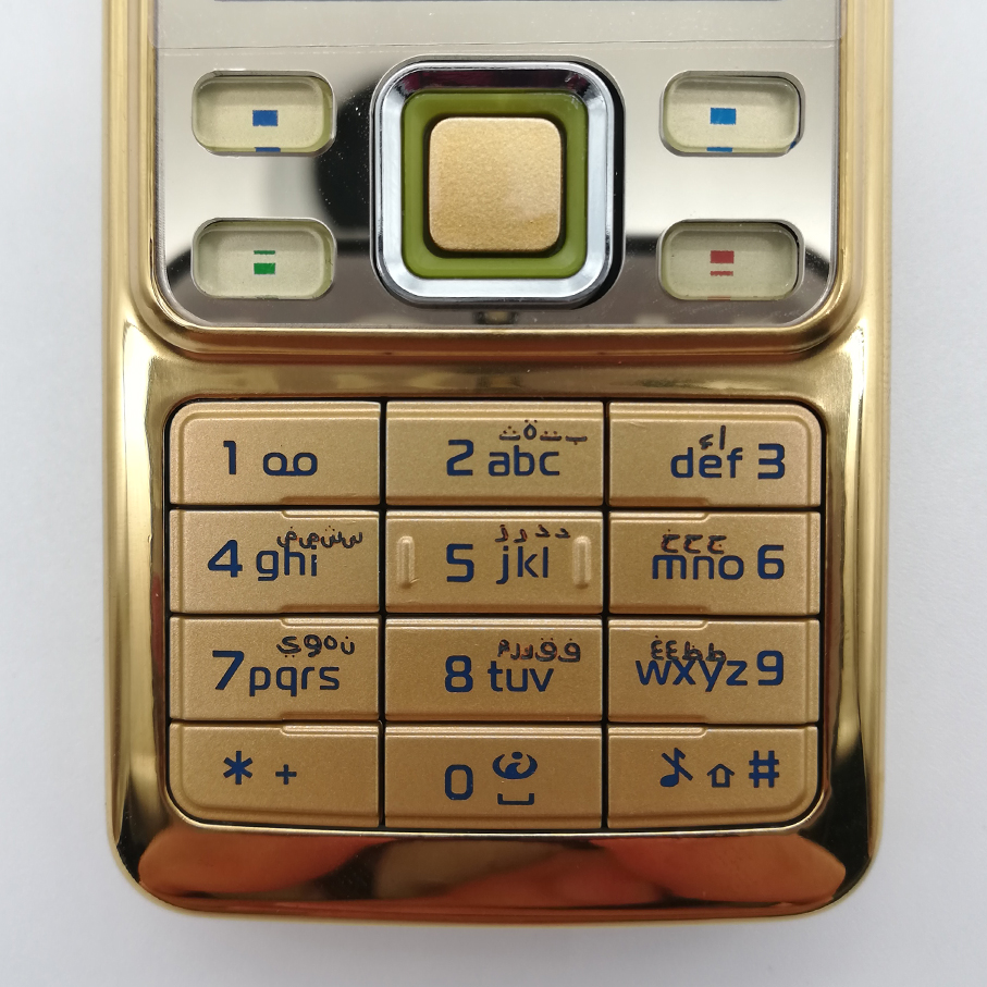 <font><b>Housing</b></font> Main Keyboards English/Russian/Arabic/Hebrew Keypads Cover Case Buttons For <font><b>Nokia</b></font> <font><b>6300</b></font> image