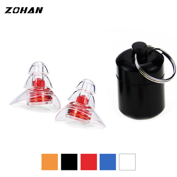 ZOHAN One Pair Soft Silicone EarPlugs Professional music Ear Plugs Washable Reusable Hearing Protection Noise Reduction Ear Plug washable comfortable cylindrical pvc ear plugs set w cord yellow blue