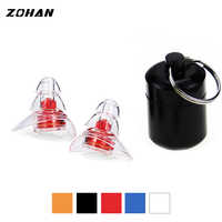 ZOHAN One Pair Soft Silicone EarPlugs Professional music Ear Plugs Washable Reusable Hearing Protection Noise Reduction Ear Plug