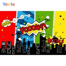 Yeele Bomb Pow Comic City Buildings Birthday Baby Photography Backgrounds Customized Photographic Backdrops for Photo Studio