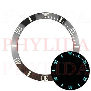 Image 3 - ¡Oferta! De 38mm anillo negro, azul, verde, superluminoso, de cerámica, con bisel para reloj, compatible con Sub buzos SKX007/009, reloj con total luminosidad