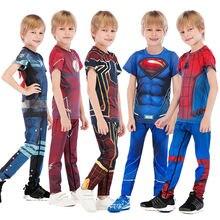 Детский компрессионный комплект из рубашки и брюк для ММА джиу