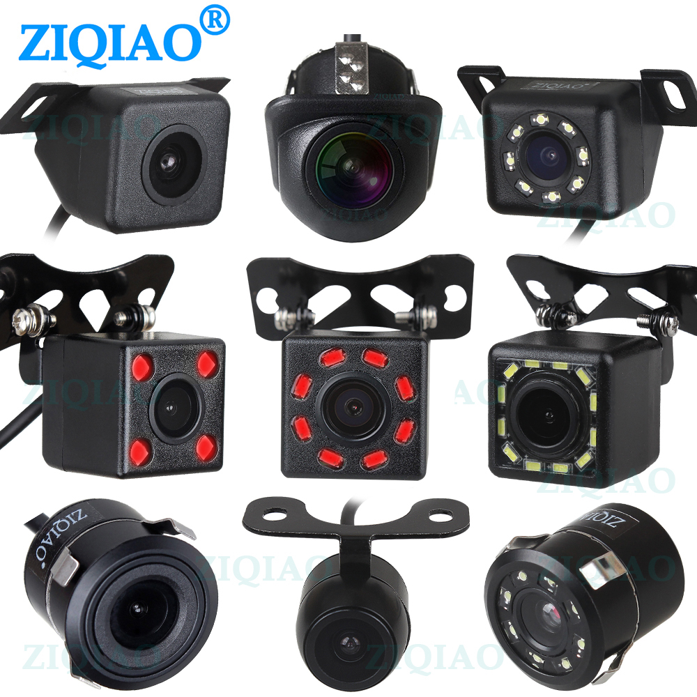 ZIQIAO Car Rear View Camera 12 LED IR Night Visions Waterproof Universal Backup Reverse Parking Camera