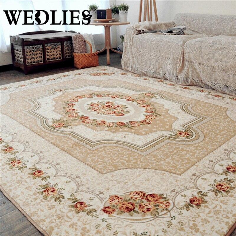 120x180cm Style européen tapis tapis intérieur Rose à la mode salon chambre tapis canapé Table chevet sol MChildren tapis