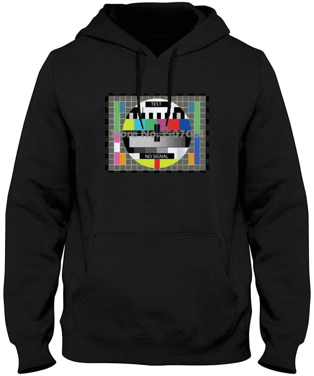 Test Pattern Retro Vintage Television Tv New Mens White Novelty Sheldon Harajuku Funny Tops Hoodies & Sweatshirts