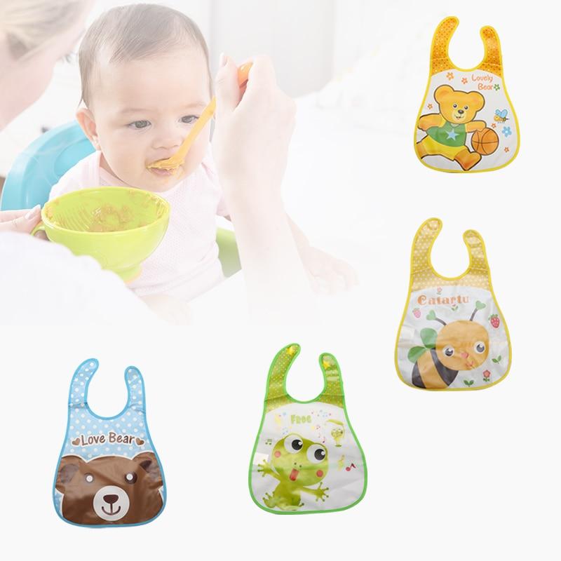Cartoon Cloth Lunch Kids Feeding Translucent Bib Bibs Baby Towel Waterproof