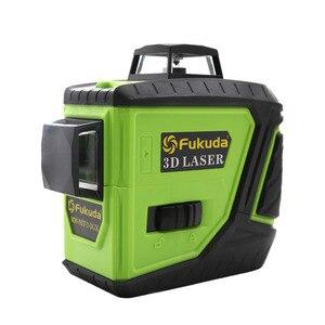 Image 2 - 2 pièces Lion batterie Fukuda 12 ligne laser 3D niveau 360 niveau Laser Vertical et Horizontal niveau Laser auto nivelant 515NM niveau laser pointu