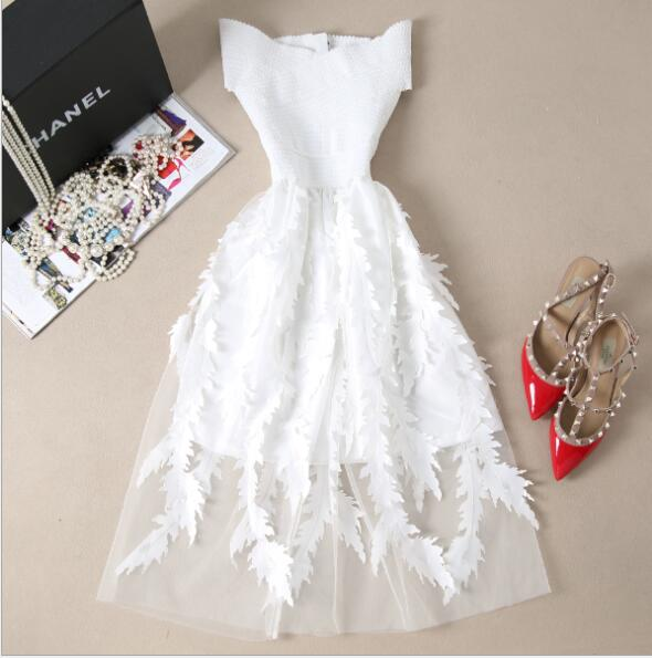 Women's Lace Sexy Skinny Bandage Dress New Summer Sexy Elegant Elastic White Black Dress Retro Party Dress Dress Women's