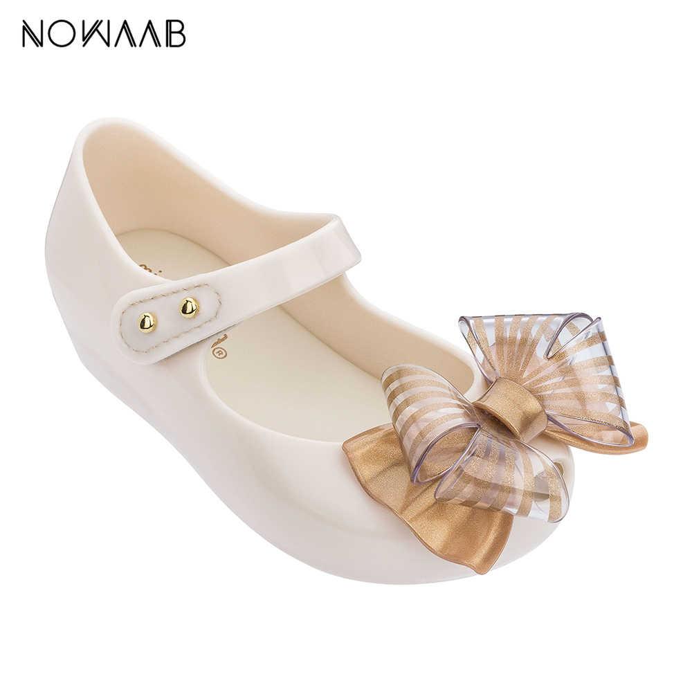 Mini Melissa 2019 YENI Kız Jöle Sandalet Yay Yaz Sandalet Melissa Çocuk Sevimli Sandalet plaj ayakkabısı bebek ayakkabısı
