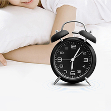 Creative Retro Alarm Clock Twin Bell With Stereoscopic Dial Backlight Desk Loud Gift