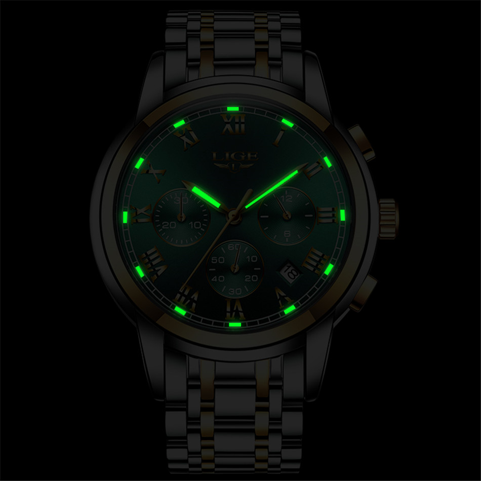 H7ca9663d8558465a9a96332926309863H Relojes Hombre LIGE New Watches Men Luxury Brand Chronograph Male Sport Watches Waterproof Stainless Steel Quartz Men Watch