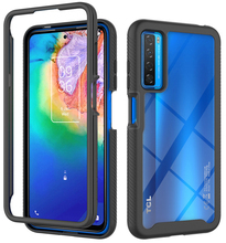 Crystal Case For TCL 20 5G 2021 Silicon Bumper Hard Back Panel Etui TCL 20S 20 Pro Transparent Case for TCL 20L 20L+ Cover