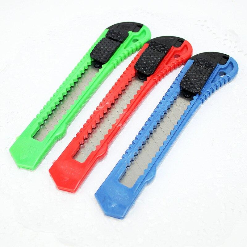 R18 Art Supplies Large Size Utility Knife Paper Cutter Handmade Cutter Wallpaper Knife School Office Stationery 78