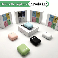 Wireless Bluetooth Earphones inPods i12 TWS True Stereo Sport Earbuds With Accessories Protective Cover