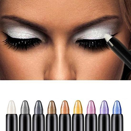 1pc Fashion Beauty Highlighter Eyeshadow Pencil Cosmetic Glitter Eye Shadow Eyeliner Pen Beauty Supplies