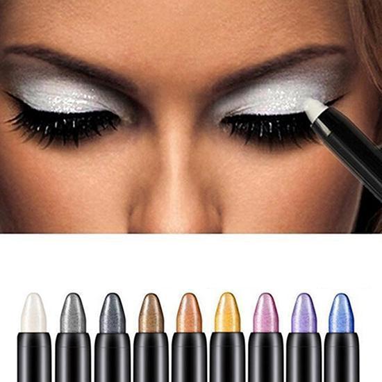 1pc Fashion Beauty Highlighter Eyeshadow Pencil Cosmetic Glitter Eye Shadow Eyeliner Pen Beauty Supplies