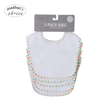 Newborn Baby 5 Pack Bibs Set One Day Change Burp Clothes For 0-12 Month Boy Girl Brand New Daily