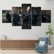 5 Panel HD print Painting peaky blinders Canvas Wall Art piece movie poster Picture Home Decoration Print