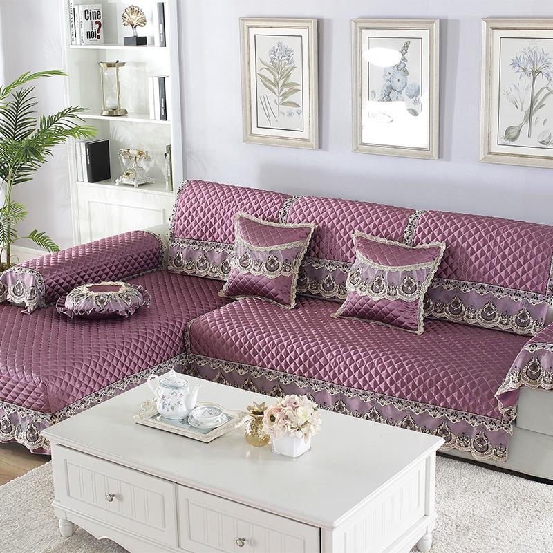 Manufacturers Direct Selling Tribute Silk Tencel Embossed Sofa Cushion Fabric Anti-slip Four Seasons Universal Nobility Modern S