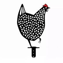 Statues de jardin d'art de cour de poulet, piquets de pelouse en plastique, décoration de jardin de poule de canard, ornement d'extérieur, cadeau