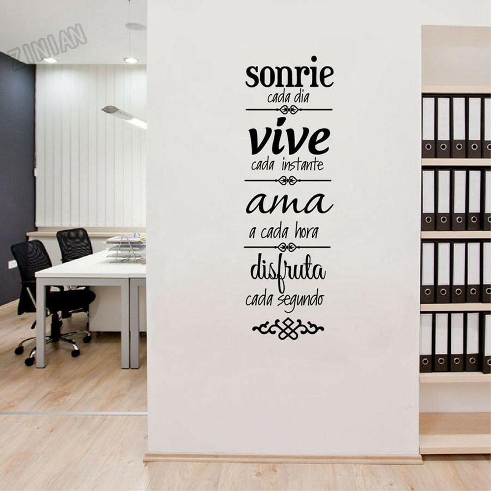 House Rules Wall Decal Spanish Version Normas De Casa Vinyl Wall Stickers Home Decoration Vinyl Removable Living Room Mural Y246