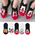 5 пар/лот летние милые повседневные женские носки с изображением мультяшных животных мышь носки с изображением уток невидимые хлопковые см...