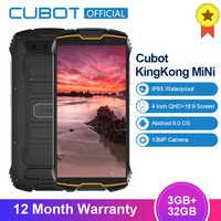 "Cubot KingKong MiNi 3GB + 32GB 4 ""QHD + 18:9 Bildschirm Android9.0 MT6761 Quad Core IP68 Wasserdicht 4G LTE Dual-SIM 2000mAh Smatphone"