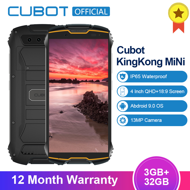 "Cubot KingKong MiNi 3GB+32GB 4"" QHD+ 18:9 Screen Android9.0 MT6761 Quad Core IP65 Waterproof 4G LTE Dual-SIM 2000mAh Smatphone"