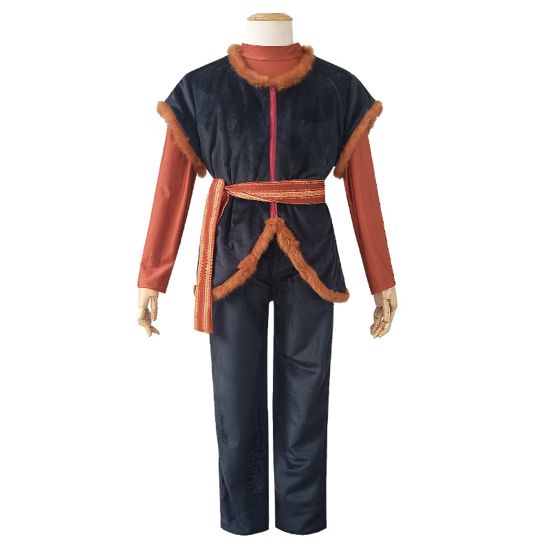 2019 Movie elsa 2 Kristoff Cosplay Halloween Masquerade Cosplay Costumes Adult High Quality Deluxe Custom Made