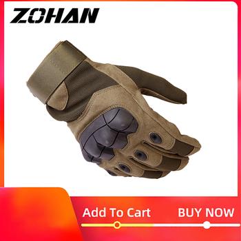 Rękawice taktyczne wojskowe Knuckles polowanie mężczyźni odkryty zimowy ekran dotykowy strzelanie rowerowe rękawice bojowe Airsoft na polowanie tanie i dobre opinie Pasuje prawda na wymiar weź swój normalny rozmiar Unisex Synthetic Leather Microfiber Nylon Adult Wrist Fashion Men s Tactical Gloves