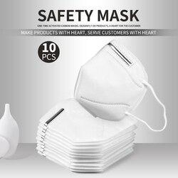 شحن سريع 10 قطعة/5 قطعة KN95 Facemask 95% الترشيح القط الاطفال الكبار Kn95 قناع الوجه مكافحة الغبار PM2.5 الضباب 3 تصفية السلامة واقية