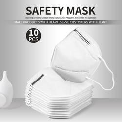 Envío rápido 10 uds/5 uds KN95 Facemask 95% Filtration 마크 크 Kids adultos Kn95 máscara facial Anti-polvo PM2.5 Fog 3 Filtro de protección de seguridad