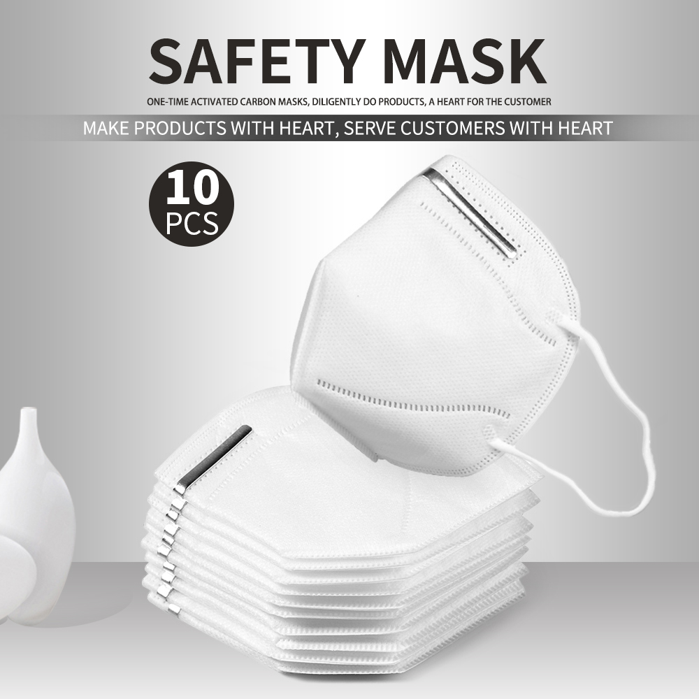 Fast Ship 10pcs/5PCS KN95 Facemask 95% Filtration 마스크 Kids Adults Kn95 Face Mask Anti-Dust PM2.5 Fog 3 Filter Safety Protective