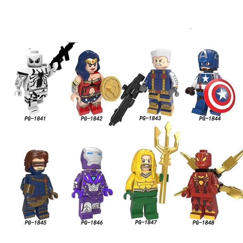 Legoingly スーパーヒーロー驚異フィギュアキャプテンアメリカ毒ハルクスパイダーマンアイアンマンビルディングブロックレンガのおもちゃ