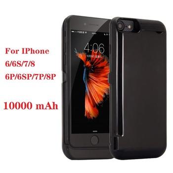 10000mah Power bank case dla iPhone 6 6s 7 8 plus case ładowarka Case dla iPhone 6S iPhone 6 7 8 Power Bank Charging Case tanie i dobre opinie Ligentleman ≥8000mAh Rohs CN (pochodzenie) Power Case Urządzenia iPhone Apple IPhone 7 IPhone 7 Plus Iphone 6 s plus