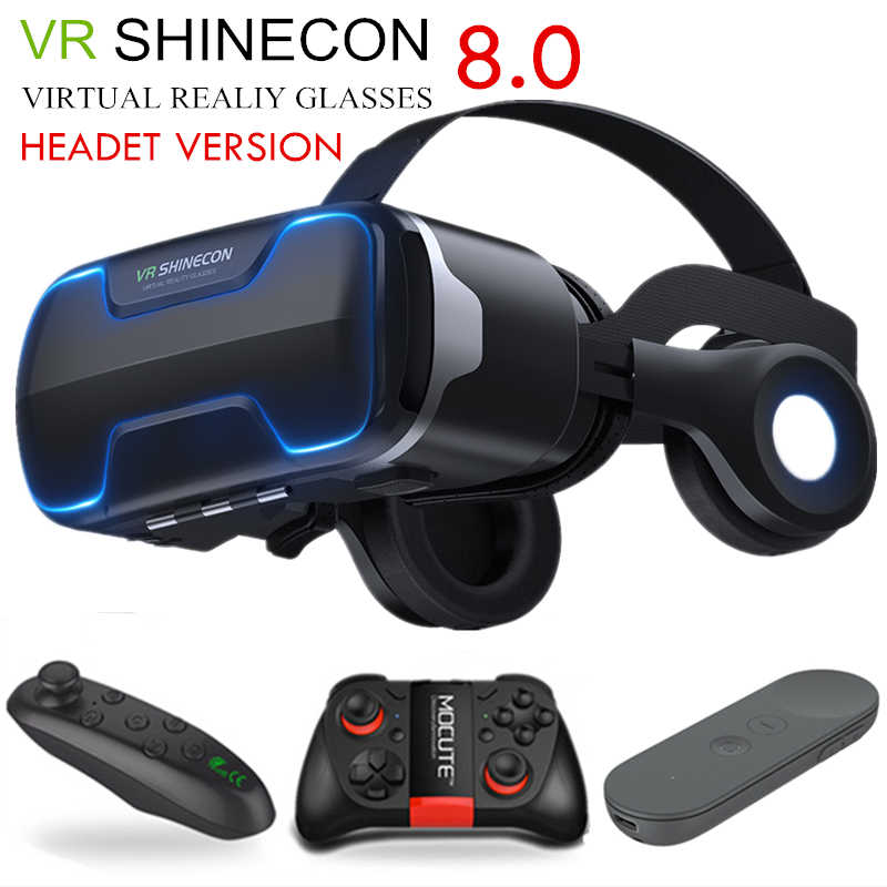 G02ED VR shinecon 8,0 Standard edition und headset version virtuelle realität 3D VR gläser headset helme Optional controlle