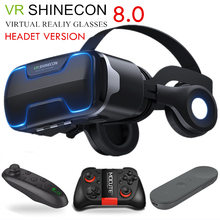 G02ED VR shinecon 8.0 Standard edition and headset version virtual reality 3D glasses helmets Optional controlle