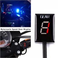 LCD Motorcycle Ecu Direct Mount 1 6 Speed Gear Display Indicator For Harley Digital Universal Levels Indicator Accessories
