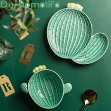 Европейский Креативный зеленый Моделирование кактусов керамическая