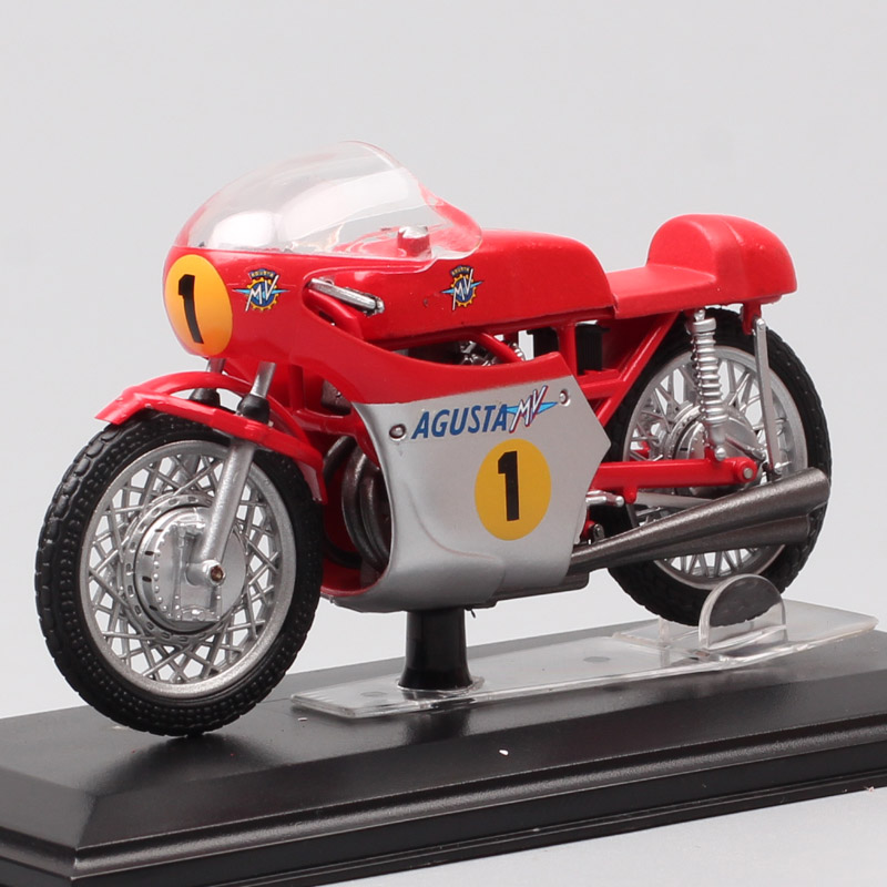 1/22 Scale Mini Italeri Classics Old MV Agusta 500 Tre 1967 GP Racing No.1 G Agostini Motorcycle Diecast Vehicles Moto Bike Toys