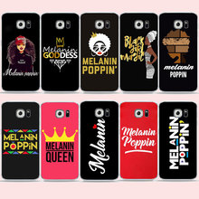 Melanin Poppin Queen phone Case For Samsung S10 S9 S8 PLUS A70 A50 A30 S7 Cover for Galaxy Note8 Black Girl Magic Soft TPU