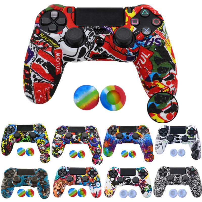 anti-slip-silicone-rubber-cover-skin-case-for-sony-font-b-playstation-b-font-4-ps4-pro-slim-controller-with-2-joystick-caps